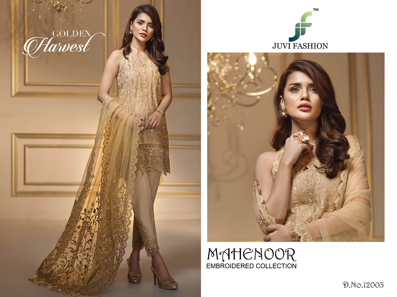 Juvi Fashion Mahenoor Embroidered Collection 12003