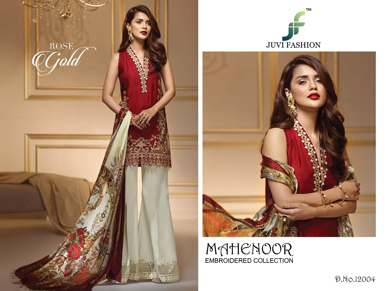 Juvi Fashion Mahenoor Embroidered Collection 12004