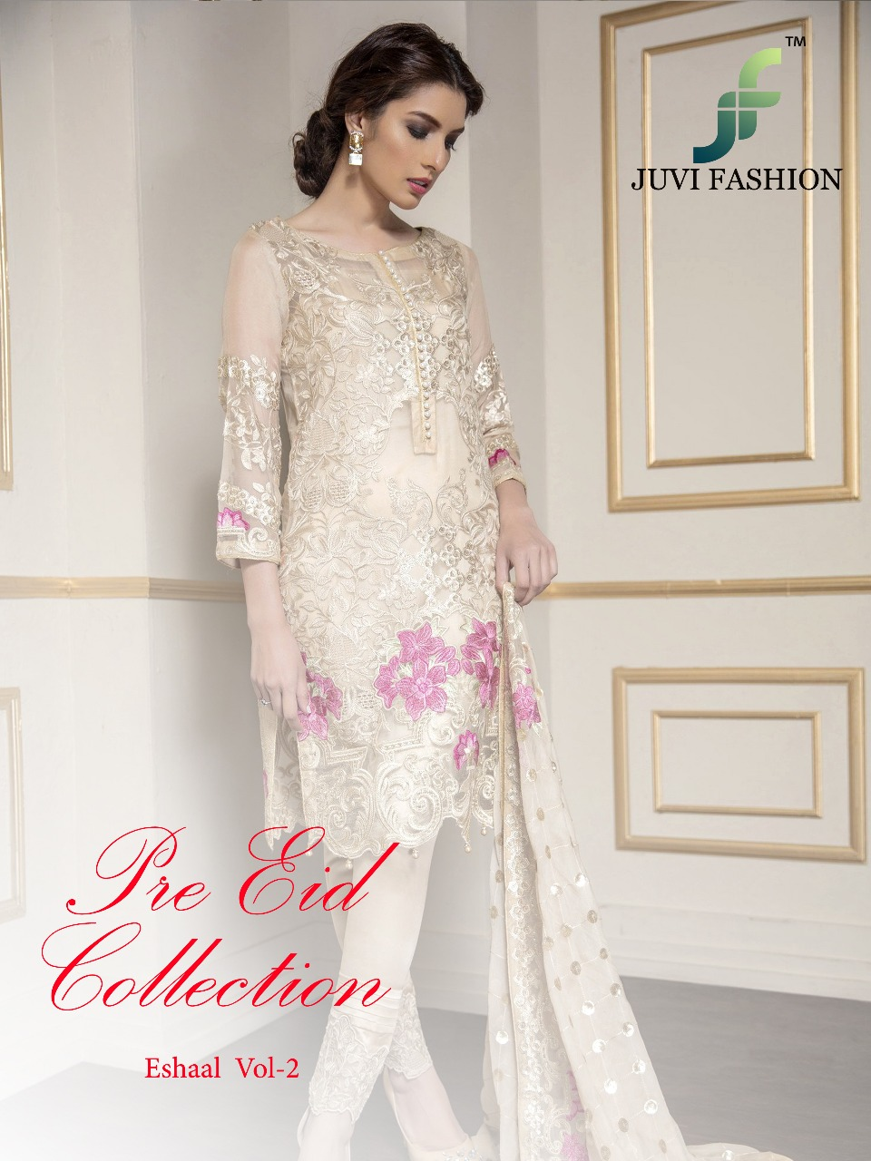 Juvi Fashion Eshaal Embroidered Collection 2001