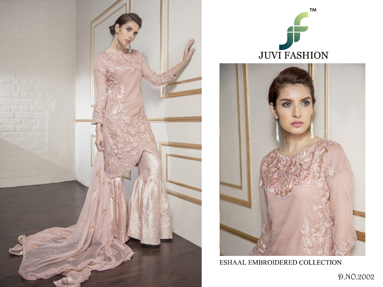 Juvi Fashion Eshaal Embroidered Collection 2002