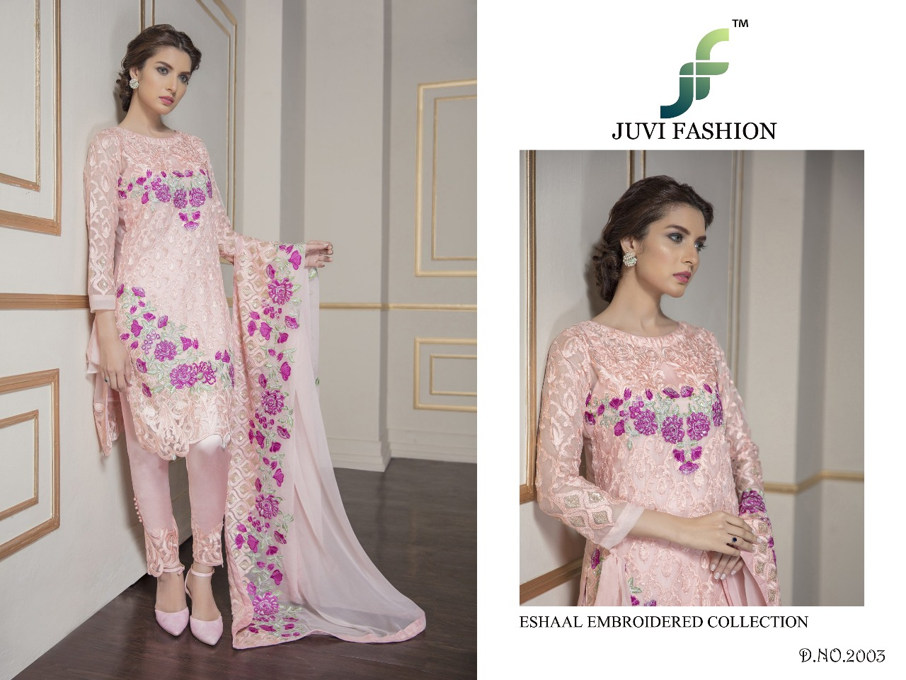 Juvi Fashion Eshaal Embroidered Collection 2003