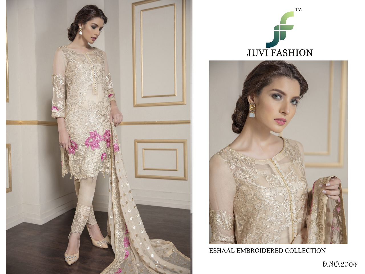 Juvi Fashion Eshaal Embroidered Collection 2004