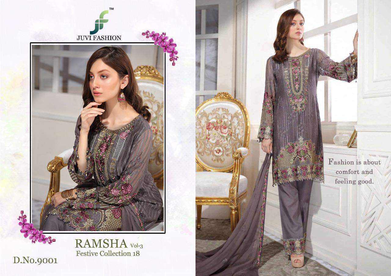 Juvi Fashion Ramsha Festival Collection 18 9001