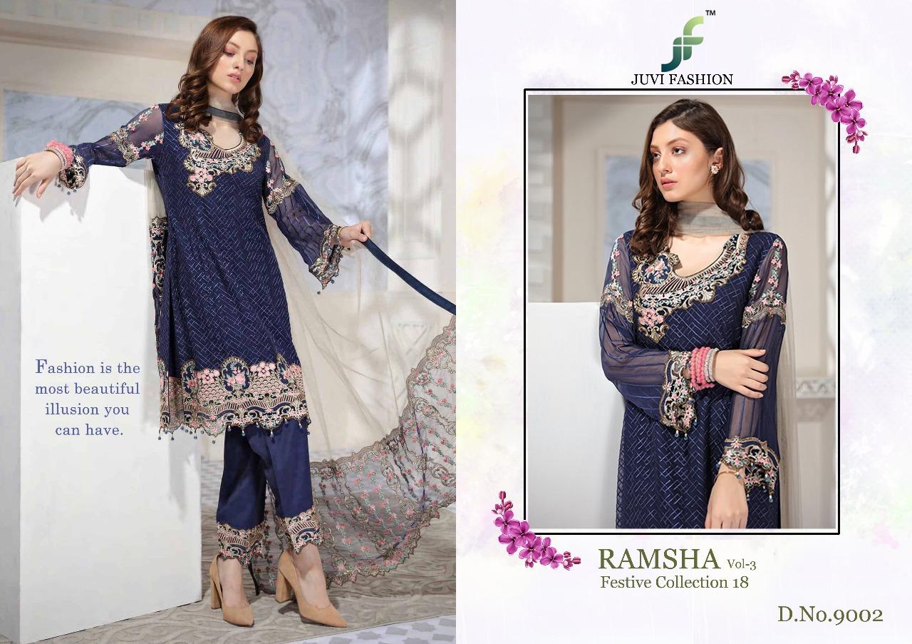 Juvi Fashion Ramsha Festival Collection 18 9002