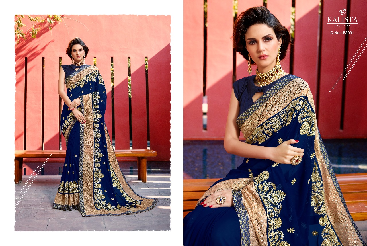 Kalista Fashions Rivaaj Sarees 52001