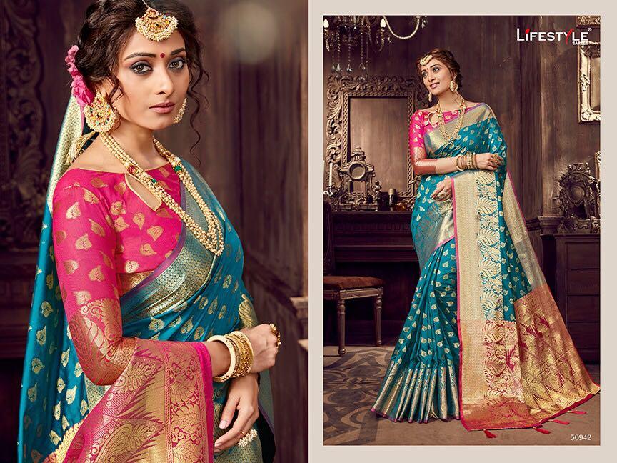 Life style Banarsi silk 50942