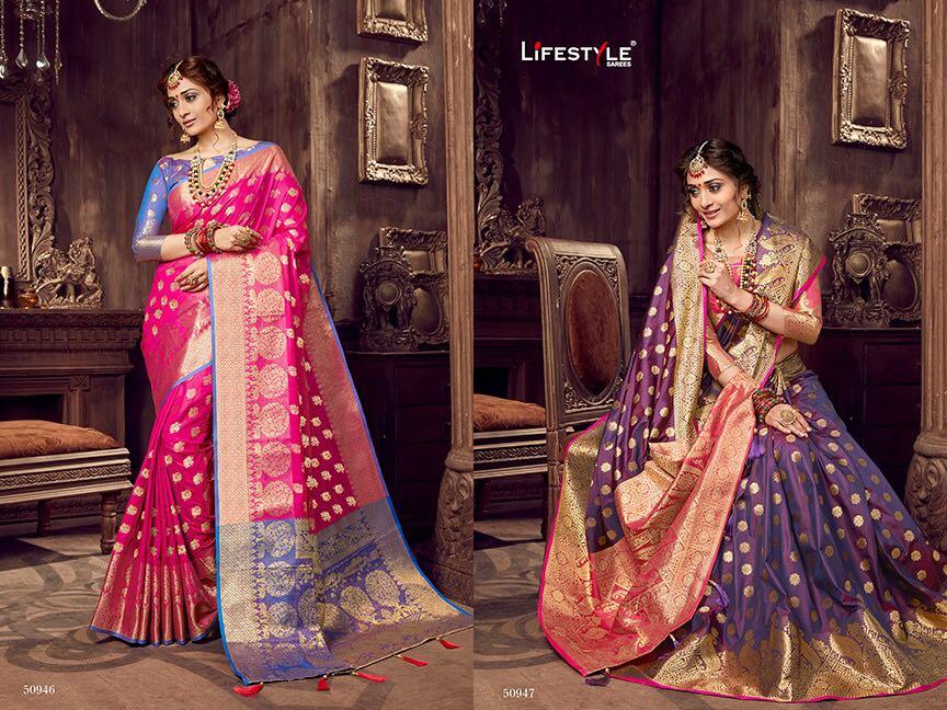 Life style Banarsi silk 50946