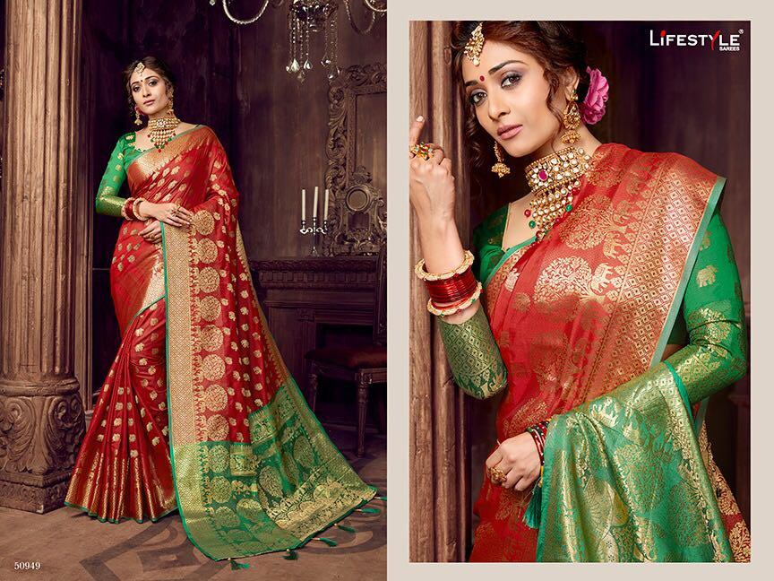 Life style Banarsi silk 50949