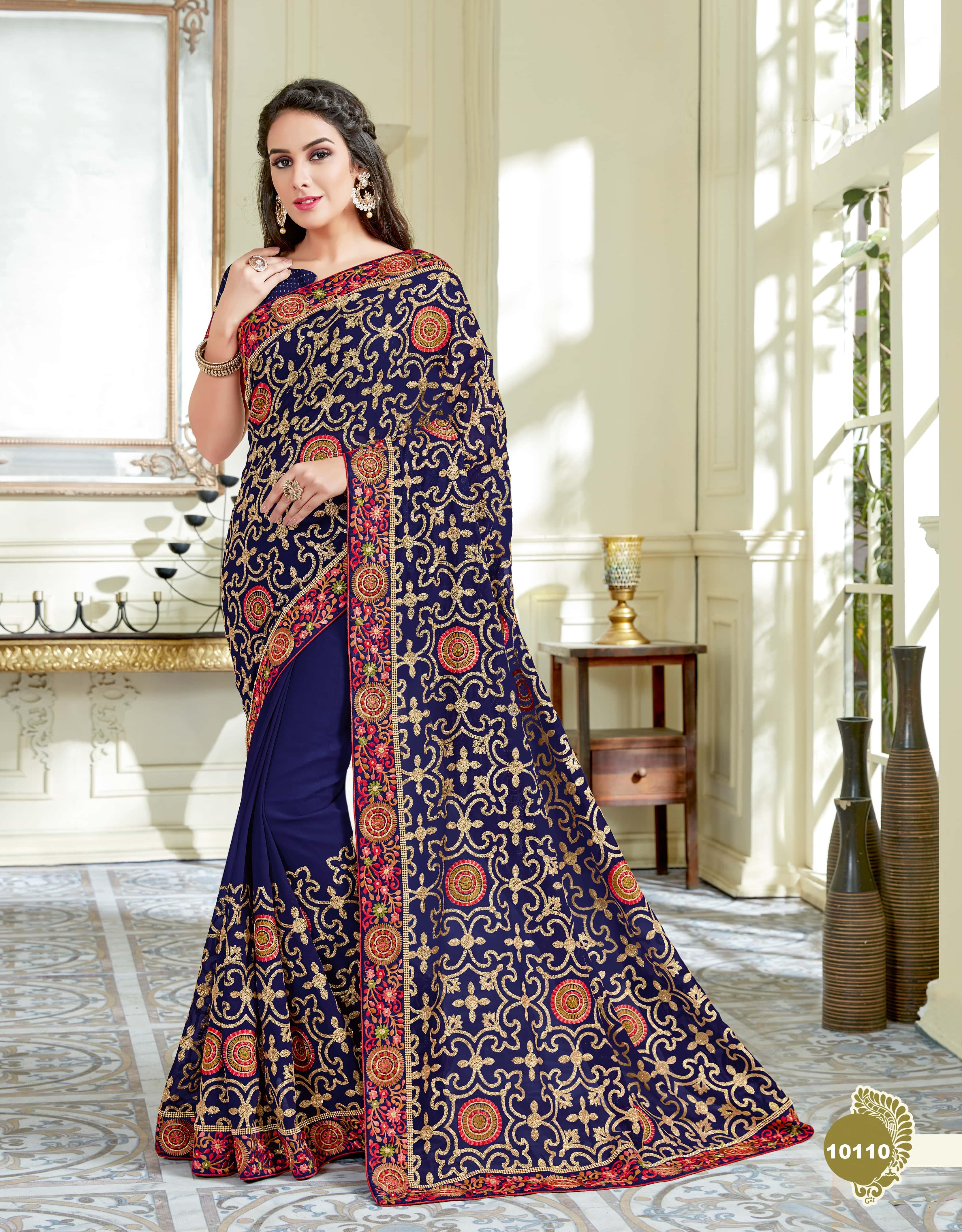 Mahotsav Saree Tarana 10110