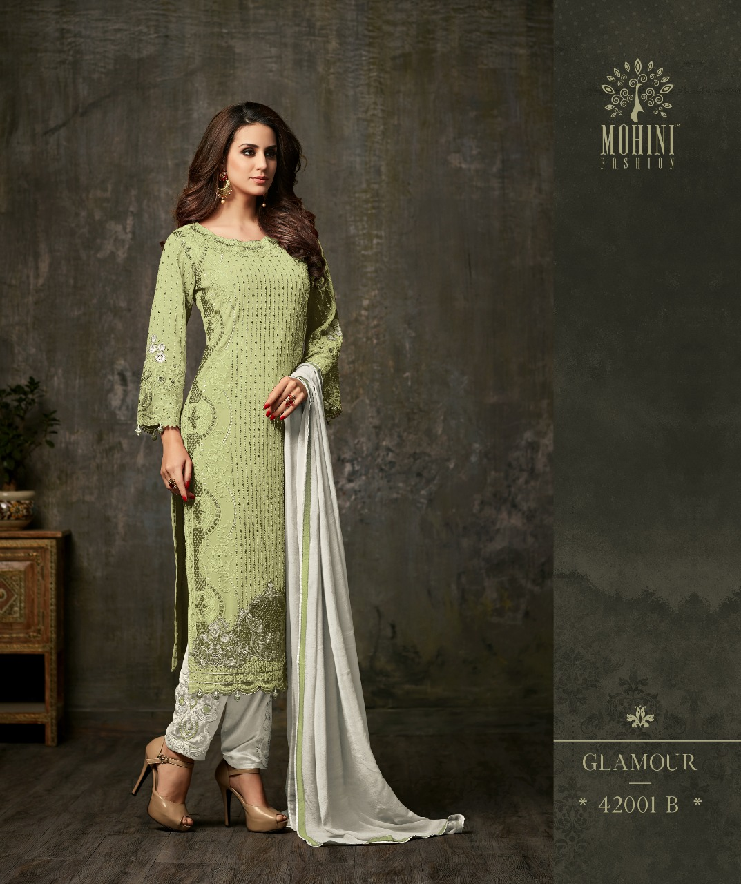 Mohini Fashion Glamour Vol 42 42001B LIGHT GREEN