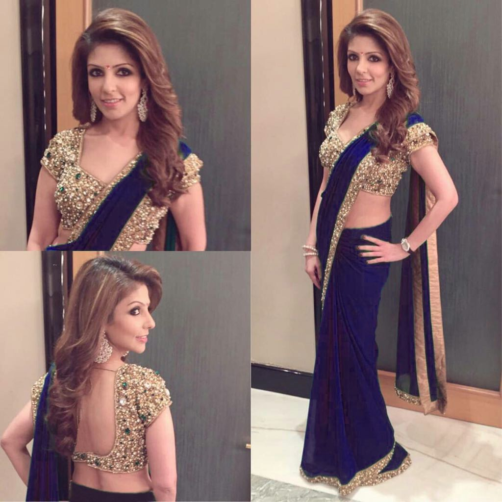 LATEST SAREE COLLECTION & COLORS NAVY BLUE