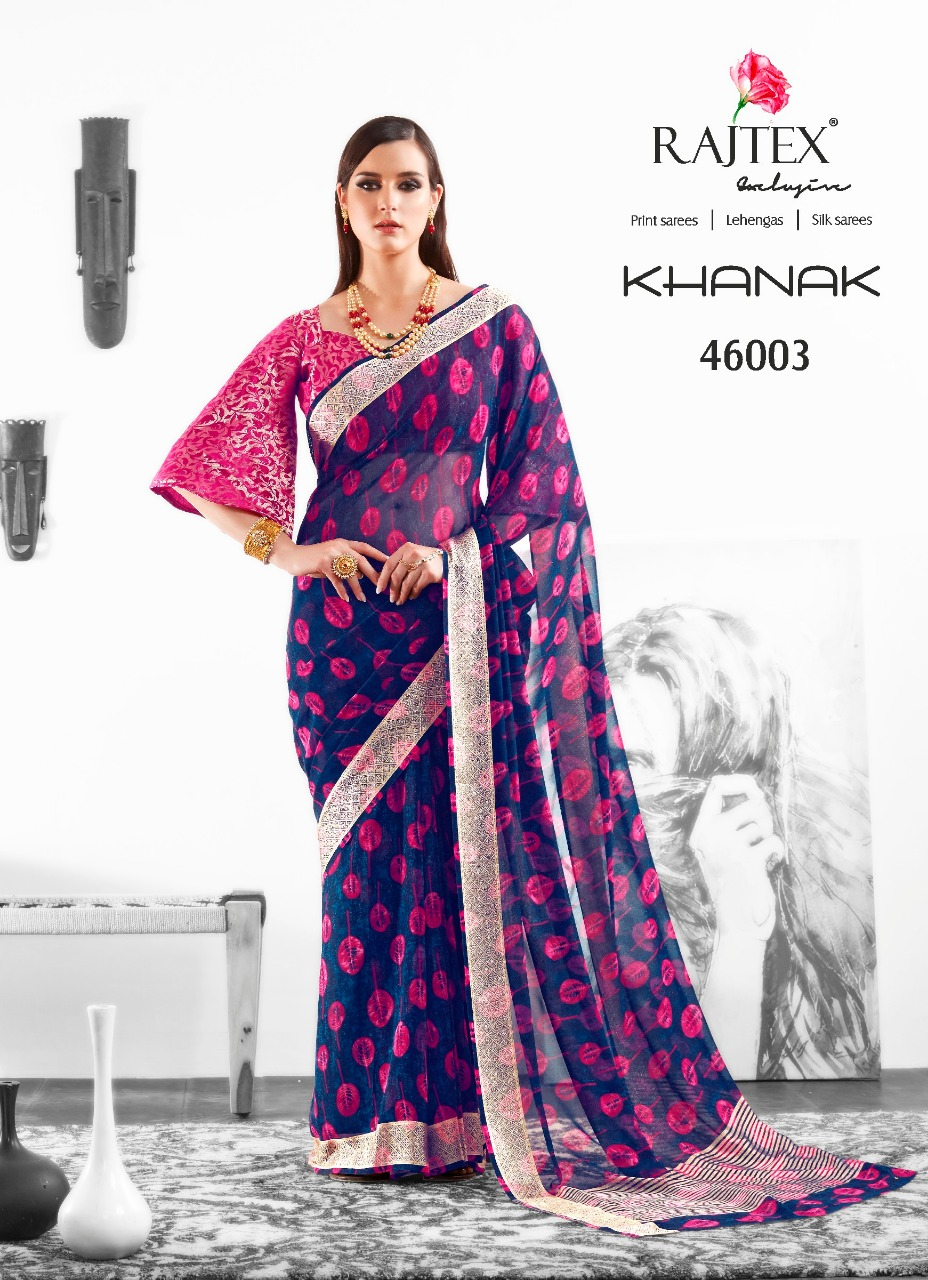 Rajtex Saree Khanak 46003