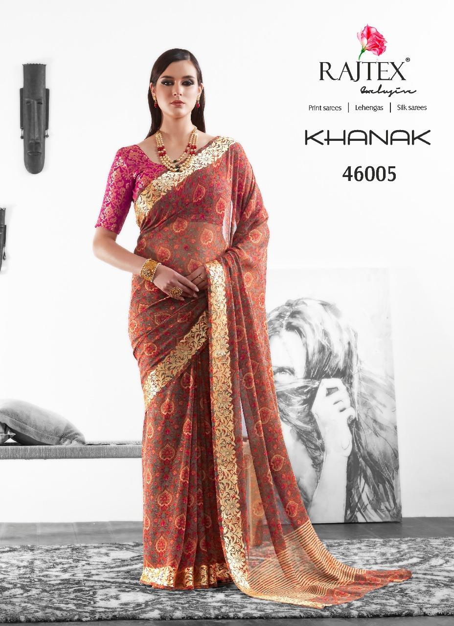 Rajtex Saree Khanak 46005
