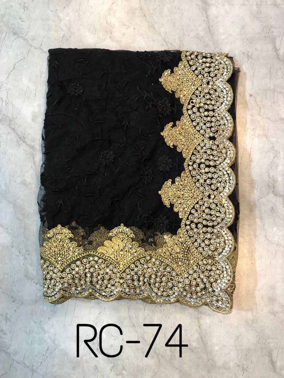 RC Designer Sarees RC 74 Black