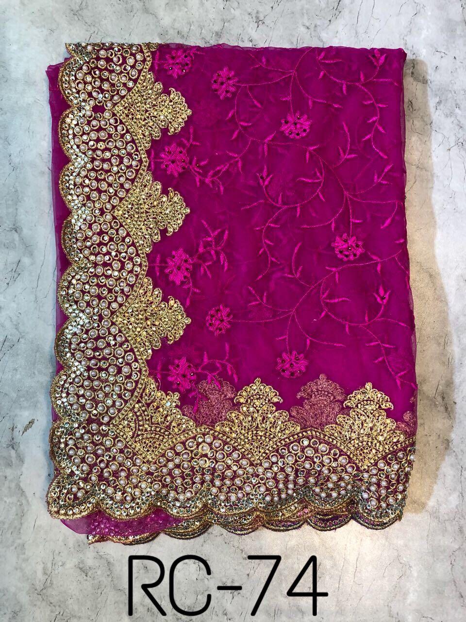 RC Designer Sarees RC 74 Pink