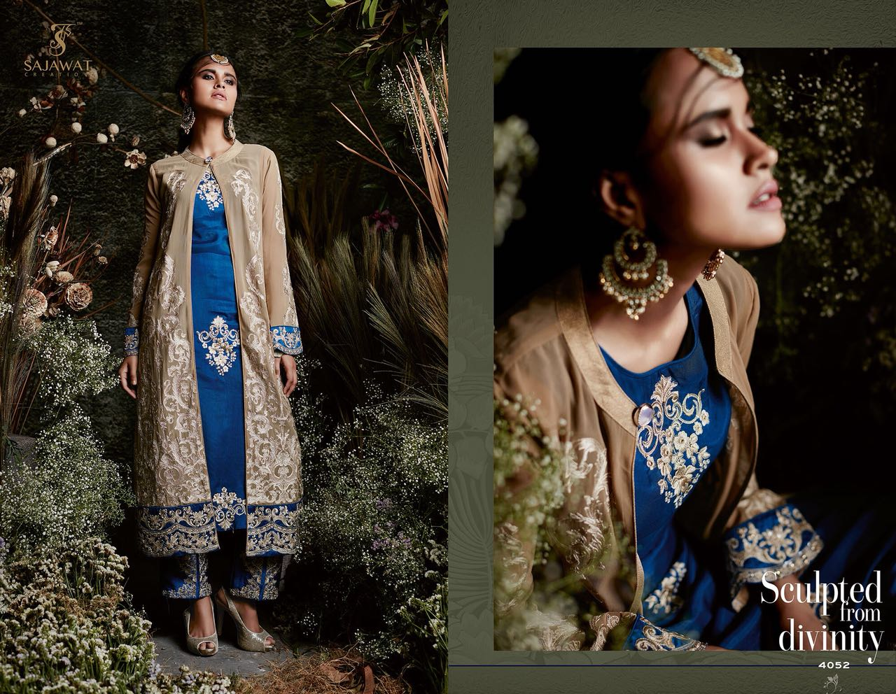 Sajawat Creation Taj Maria B Eid Collection 4052