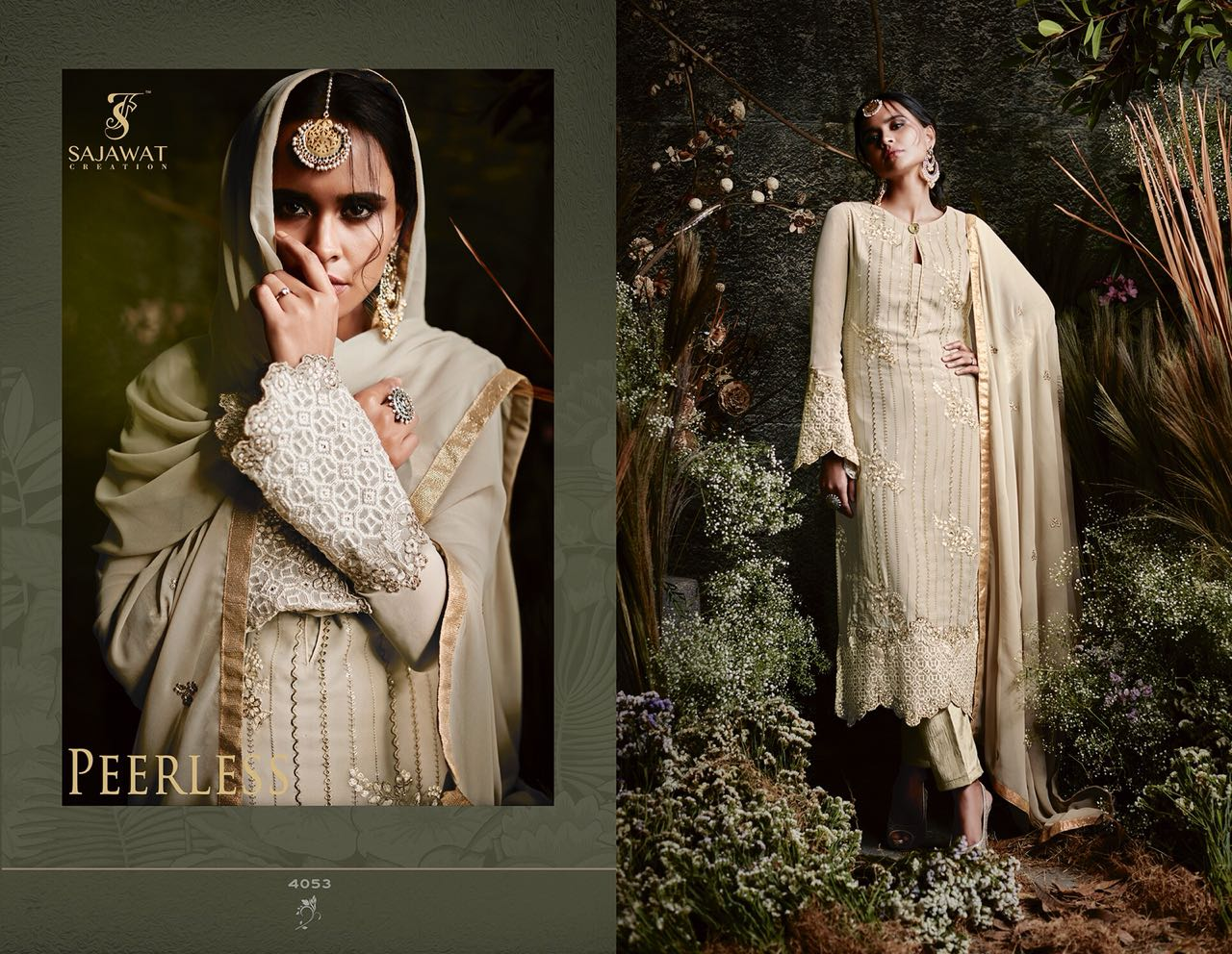 Sajawat Creation Taj Maria B Eid Collection 4053