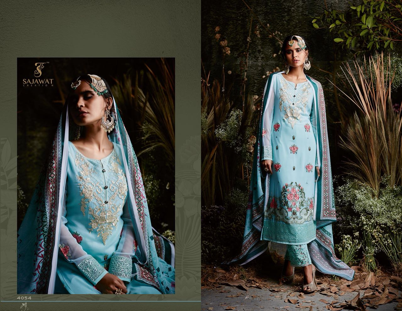 Sajawat Creation Taj Maria B Eid Collection 4054