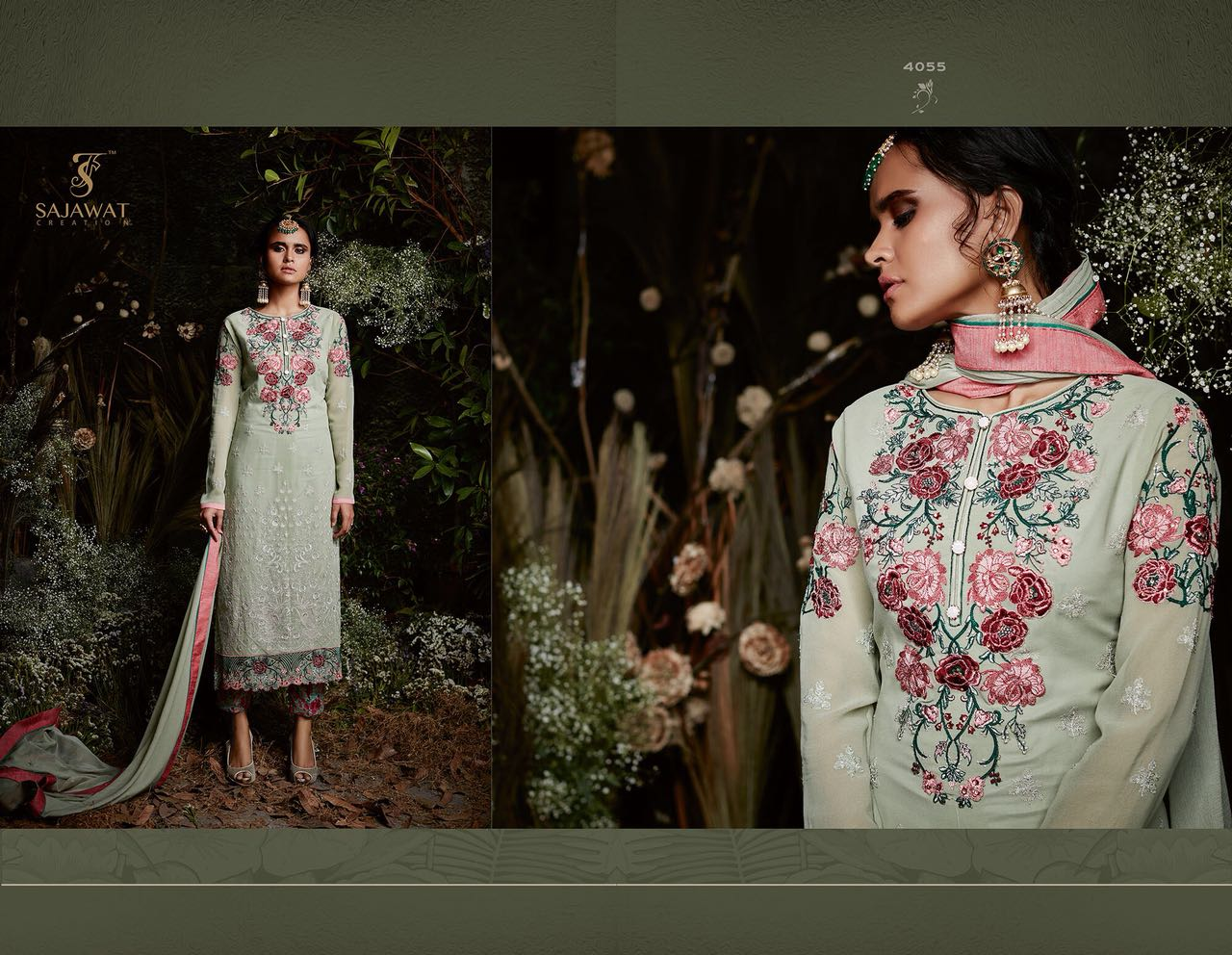 Sajawat Creation Taj Maria B Eid Collection 4055