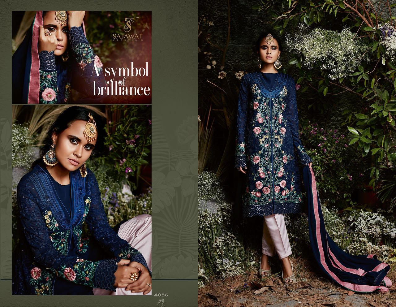 Sajawat Creation Taj Maria B Eid Collection 4056