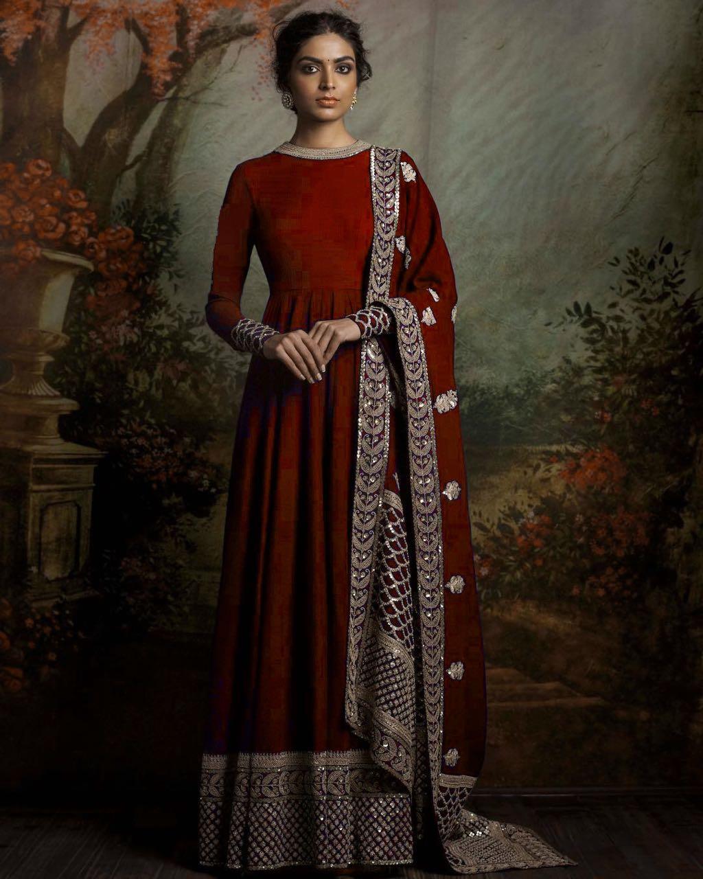 Designer Traditional Anarkali Suits 111 Maroon