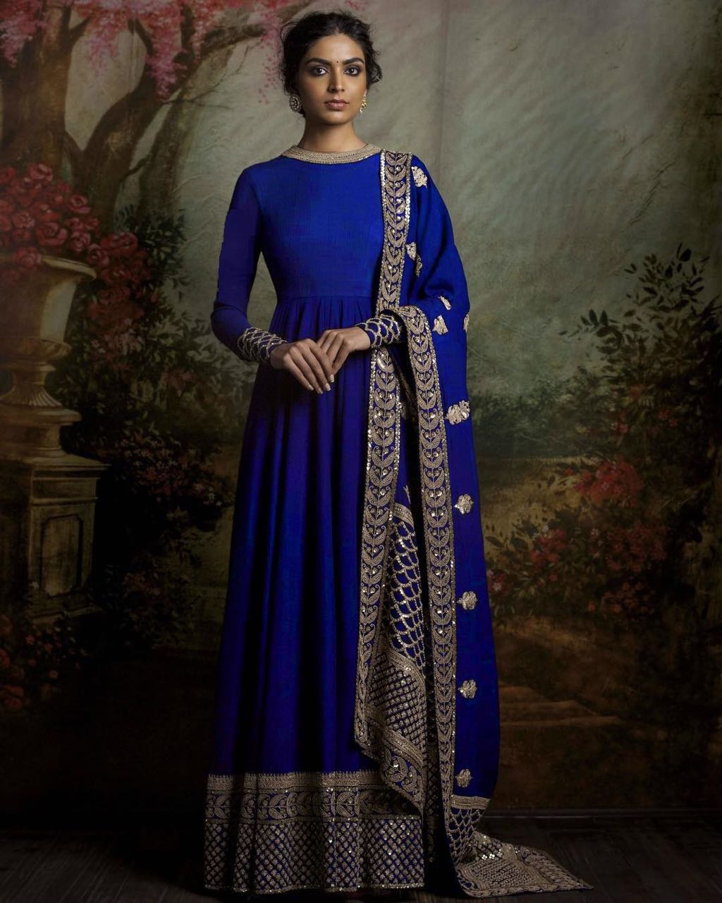 Designer Traditional Anarkali Suits 111 Royal Blue