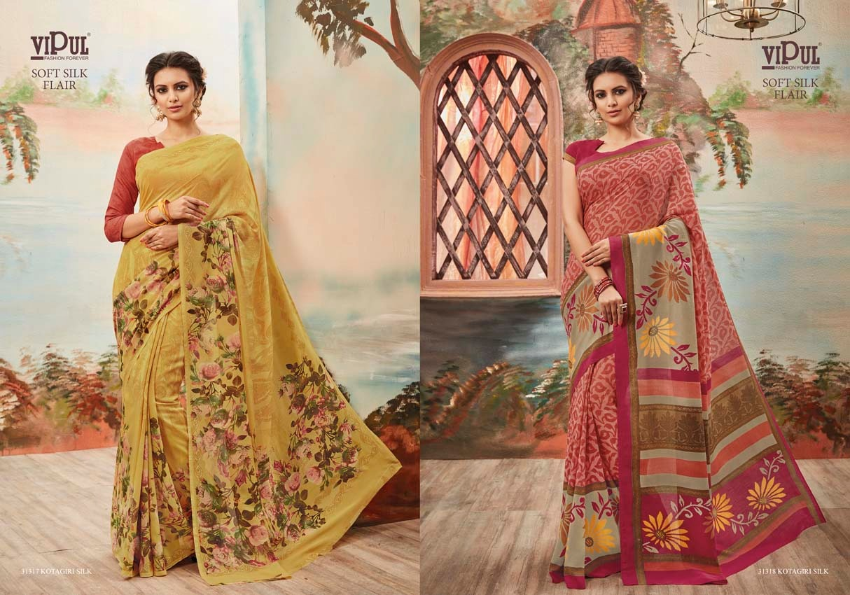 Vipul Soft silk flair 31318