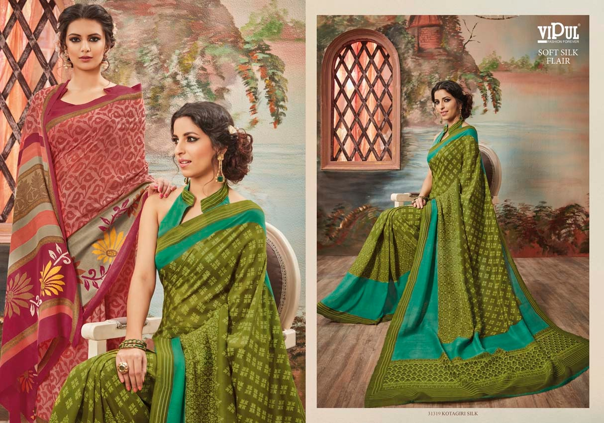 Vipul Soft silk flair 31319