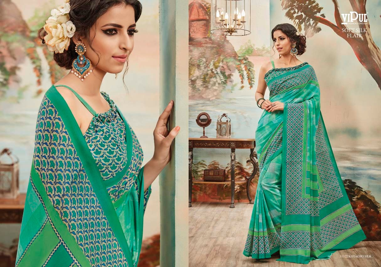 Vipul Soft silk flair 31322