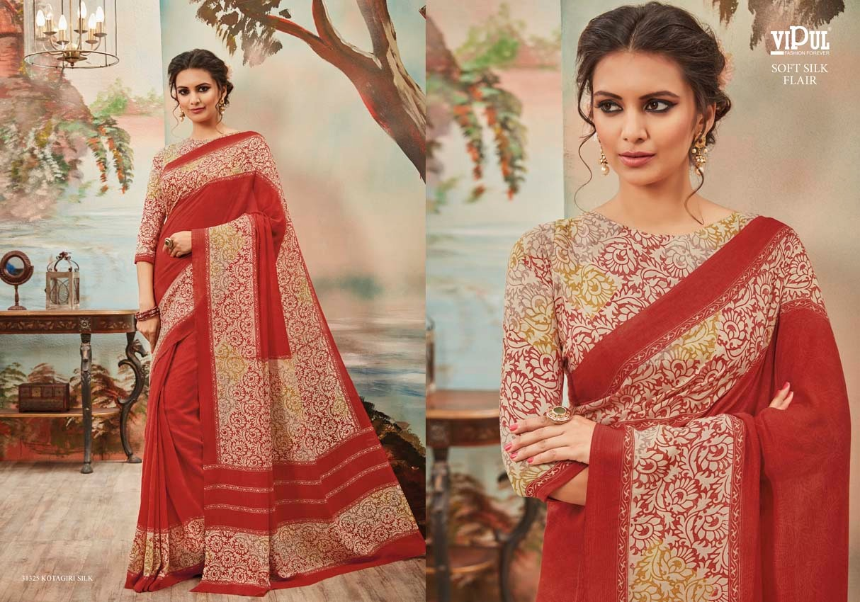Vipul Soft silk flair 31325