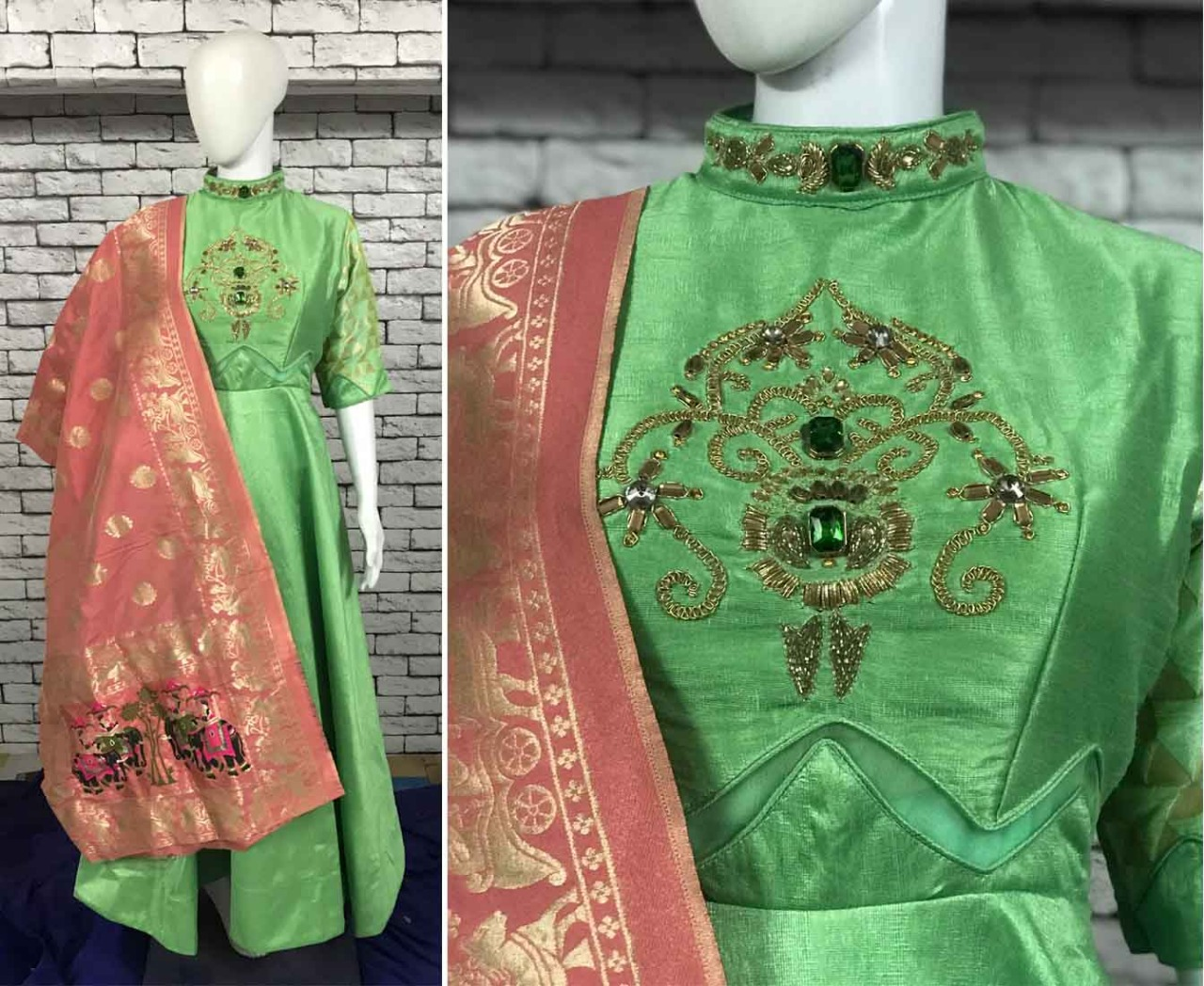 Wedding Wear Bridal Heavy Hand Women Gown 1815